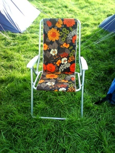 Camping chair floral pattern