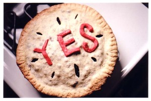 Yes on a pie