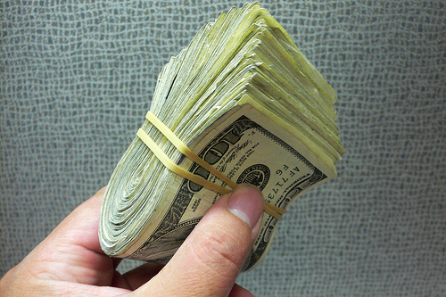 $100 bills