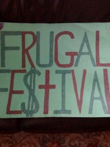 Frugal Festival green sign
