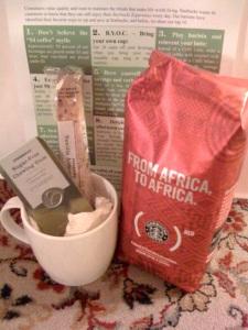 Starbucks gift bags for ff