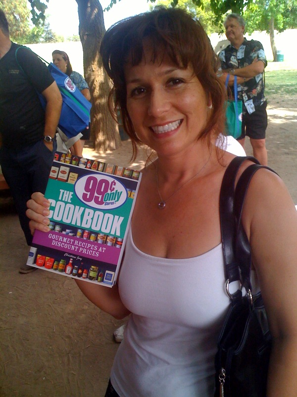 Raffle winner of a 99 Cents Only Stores Cookbook by Christiane Jory